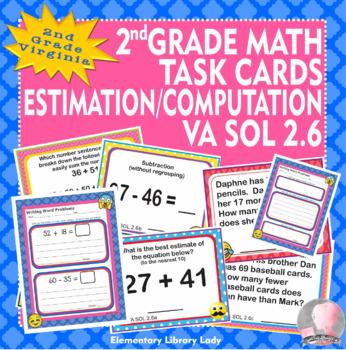 Virginia SOL Math 2nd Grade Task Cards Worksheets Estimation VA SOL 2.6 (2016)