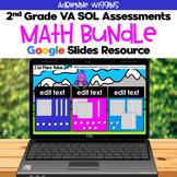 VA SOL 2nd Grade Math Assessments Bundle - Google Classroo