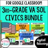 VA SOL 3.11, 3.12, 3.13 Civics for Google Classroom DIGITAL BUNDLE
