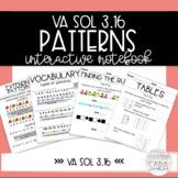 VA SOL 3.16 Patterns Math Interactive Notebook
