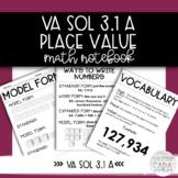 VA SOL 3.1a Math Interactive Notebook - Place Value