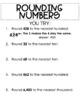 VA SOL 3.1b Math Interactive Notebook - Rounding