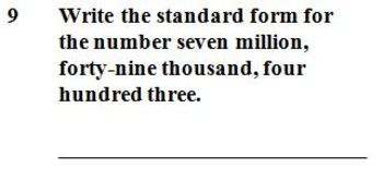 VA SOL 4.1a Place Value up to the Millions - Whole Numbers - 10 Questions