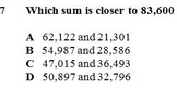 VA SOL 4.4a Estimating Sums and Differences of Whole Numbers up to Ten Thousands
