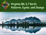 VA SOL 5.7 Earth Patterns, Cycles, and Changes Vocabulary Cards
