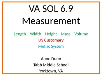 VA SOL 6.9 Measurement Proportions