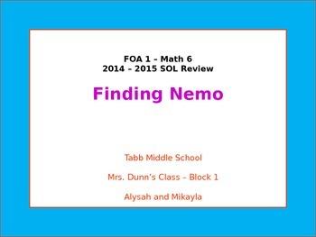 VA SOL 6th Grade Math Review - Finding Nemo