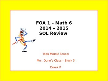 VA SOL 6th Grade Math Review - Mr. Hot Dog