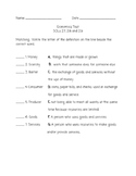 VA SOL Aligned 2nd Grade Economics Test 2.7, 2.8 and 2.9