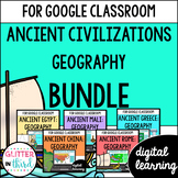 VA SOL Ancient civilizations geography for Google Classroom DIGITAL BUNDLE