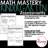 Virginia SOL Assessments for Kindergarten Math