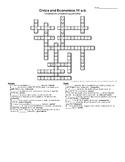 VA SOL Civics and Economics CE 11 a-b SOL Review Crossword Puzzle