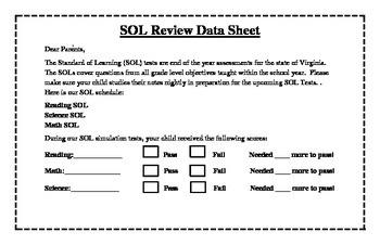 VA SOL Data Review Sheet