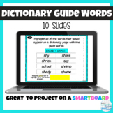 VA SOL Dictionary Guide Words Test Prep