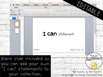 Virginia SOL I Can Statements 3rd Grade Science & Social Studies Editable