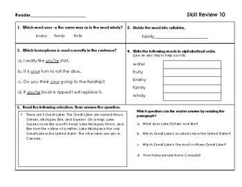 VA SOL Reading Test Prep Review 10