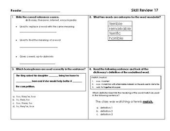 VA SOL Reading Test Prep Review 17