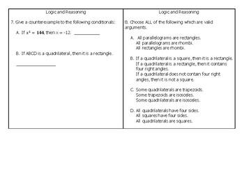 VA SOL Review LOGIC AND REASONING Geometry