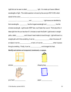 VA SOL Science Review Booklet Grades 4 & 5