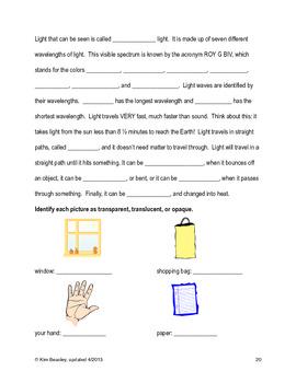 VA SOL Science Review Booklet Grades 4 & 5