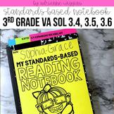 VA SOL Standards Based Reading Notebook Portfolio