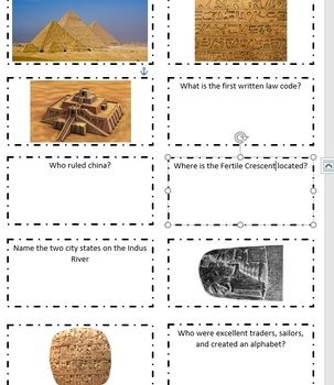 VA SOL World History SOL Review Cards Set #1 SOL WH.2-3