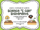 "VA 5th Grade Science SOL Objectives/""I Can"" Statements"
