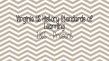 VA State Standards US History II