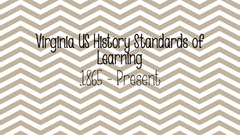 VA State Standards US History II
