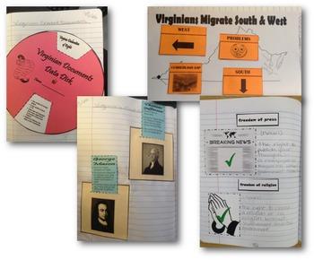 VA Studies Interactive Notebook - VS.6 A New Nation Foldables