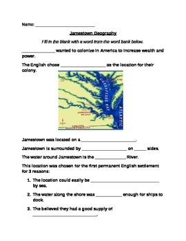 VA Studies - Jamestown Georgraphy