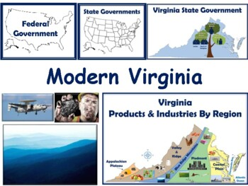 VA Studies: Modern Virginia Lesson - study guide, exam prep 2018 2019 update