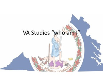 VA studies Who Am I Task Cards