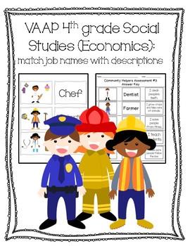 VAAP Economics: Job Description Match (4th Social Studies)