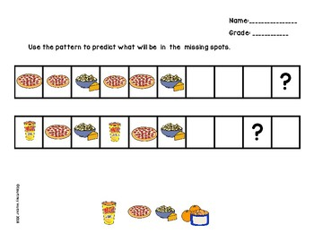 VAAP- 4th grade math- Use repeating patterns to make predictions (4M-PSPFA 1a)