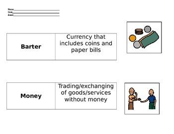 *VAAP* - 5th grade Economy- Barter, Credit, Money Sort