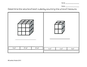 VAAP - 5th grade showing volume of a cube by counting units