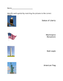 VAAP American Symbols Matching (Picture and Name)
