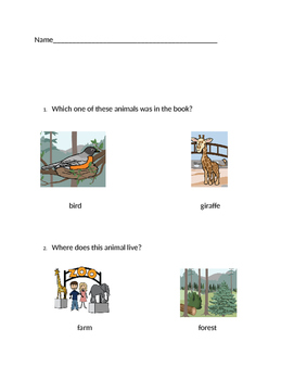 """VAAP Characters & Setting - """"Forest Animals"""" (Low Level)"""