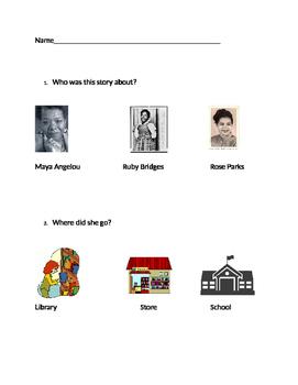 """VAAP: Characters & Settings - """"Ruby Bridges"""" 3rd Grade"""