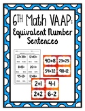 VAAP Equivalent Number Sentences (6th Grade Math)