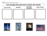 VAAP HS-C2 American flag, bald eagle, Washington Monument, Statue of Liberty