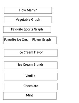 VAAP - HSM-FS 3 - Ice cream graph - Data collection, graphing, and questions