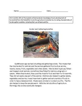 VAAP History High School: Hunter and Gatherer Societies