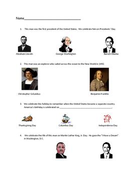 VAAP History - Holidays: Thanksgiving, MLK, 4th July, Pres
