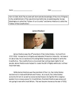 VAAP History Middle School: James Madison