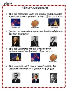 VAAP: History (Thanksgiving Day, Independence Day, President's Day, MLK)