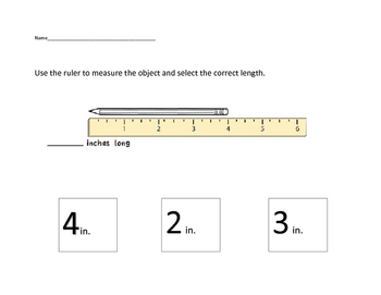 VAAP Math - Measuring Length (Low Level)