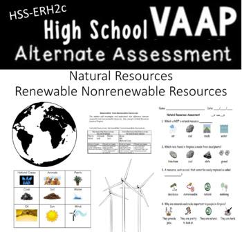 Renewable Non-Renewable VAAP HSS-ERH2c Visual Helper Autism Assessment