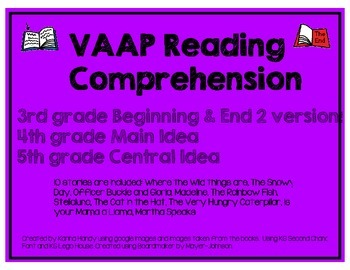 VAAP Reading Comprehension Activities
